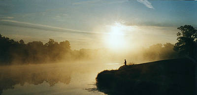 Photograph - Fisherman In Mist by Peg Toliver