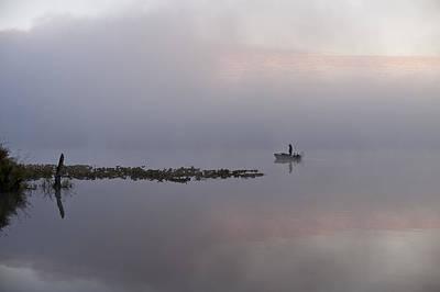 Photograph - Fisherman In Samll Fishing Boat by Jim Corwin