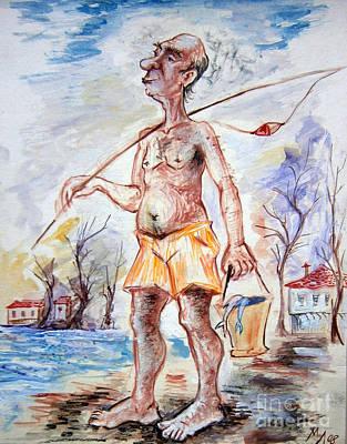 Fisherman Print by Milen Litchkov