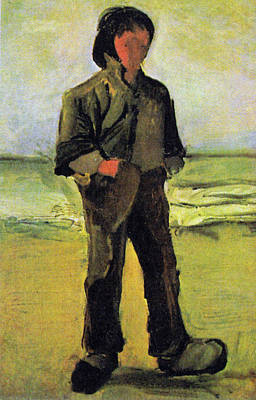 Digital Art - Fisherman On The Beach by Vincent Van Gogh