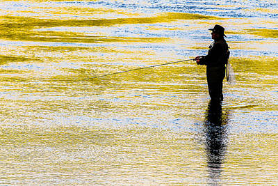 Yellowstone Photograph - Yellowstone National Park Fly Fishing by Robert Powell
