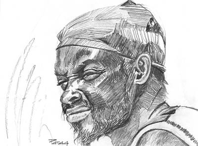 Drawing - Fisherman by Parag Pendharkar