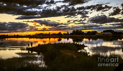 Gem County Photograph - Fisherman Sunset by Robert Bales