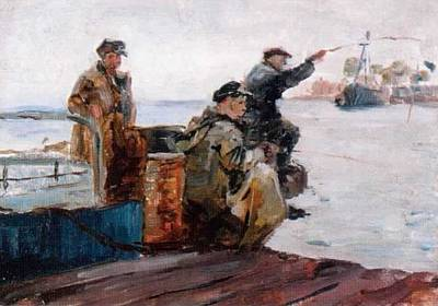 Fisherman   Vladivostok Vintage Prints Art Print by Jake Hartz