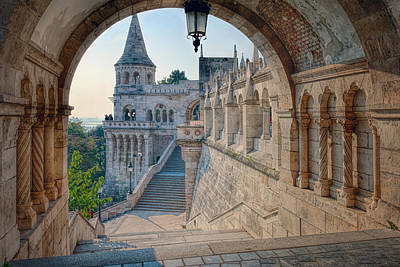 Hungarian Photograph - Fisherman's Bastion Budapest by Joan Carroll