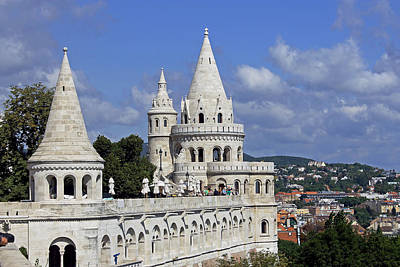 Watercolor Typographic Countries - Fishermans Bastion by Tony Murtagh