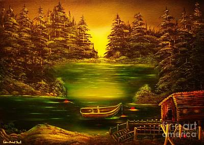 Fishermans Cabin-original Sold- Buy Giclee Print Nr 32 Of Limited Edition Of 40 Prints  Art Print by Eddie Michael Beck