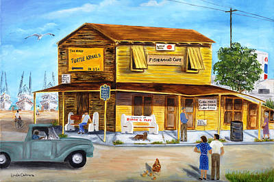 Painting - Fisherman's Cafe by Linda Cabrera