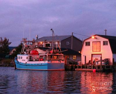 Science Collection Rights Managed Images - Fishermans Cove at Sunset Royalty-Free Image by John Malone