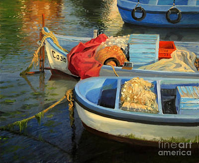 Water Vessels Painting - Fisherman's Etude by Kiril Stanchev
