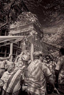 Infrared Photograph - Fisherman's Feast North End Of Boston by Joann Vitali