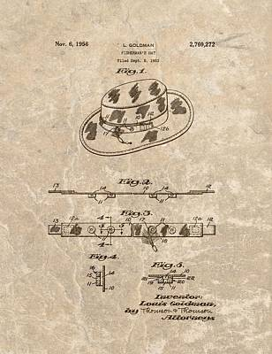 Fisherman's Hat Patent Print by Dan Sproul