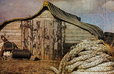 Photograph - Fisherman's Hut On Holy Island by David Birchall