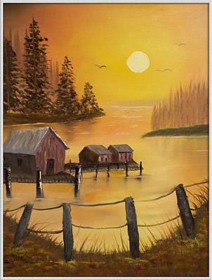 Fisherman's Retreat Art Print by Joyce Krenson