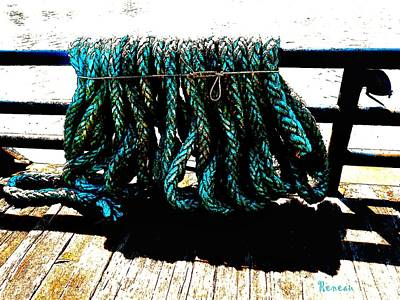 Photograph - Fishermen's Rope by Sadie Reneau