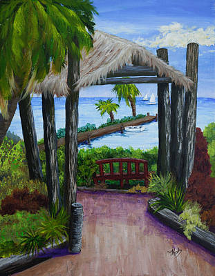 Punta Gorda Painting - Fisherman's Village Then by Kathy Przepadlo