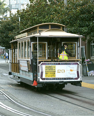 Photograph - Fisherman's Wharf Cable Car by Christopher Winkler