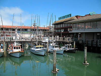 Fishermans Wharf Art Print by Connie Fox