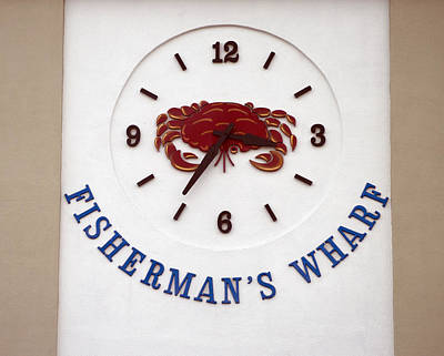 Photograph - Fisherman's Wharf Crab Clock by Christopher Winkler