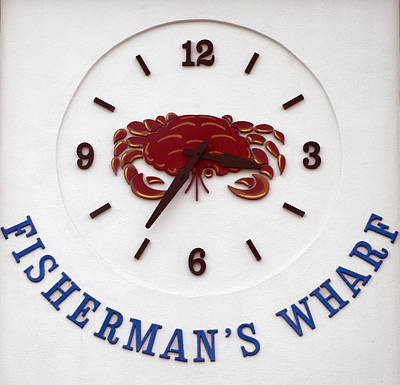 Photograph - Fisherman's Wharf Crab Clock No. 2 by Christopher Winkler
