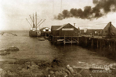 Photograph - Fishermans Wharf Monterey Circa 1920 by California Views Mr Pat Hathaway Archives