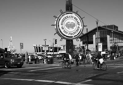 Photograph - Fishermans Wharf San Francisco California by Aidan Moran
