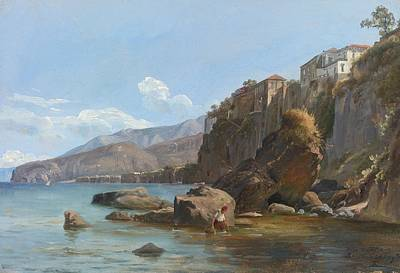 Fearnley Painting - Fishermen At Sorrento by Celestial Images