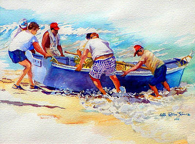 Fishermen Friendship Art Print by Estela Robles