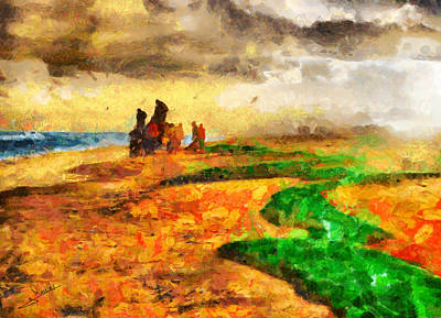 Fisherman Painting - Fishermen by George Rossidis