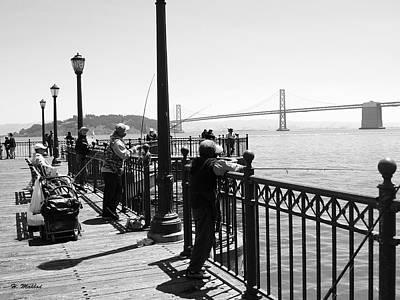 Photograph - San Francisco - Fishing At The Pier by Haleh Mahbod
