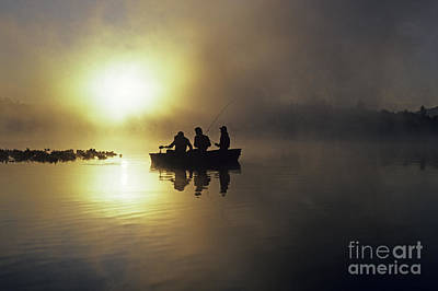 Photograph - Fishermen In Small Boat by Jim Corwin