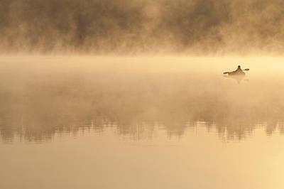 Photograph - Fishermen In Small Kayak Fishing by Jim Corwin