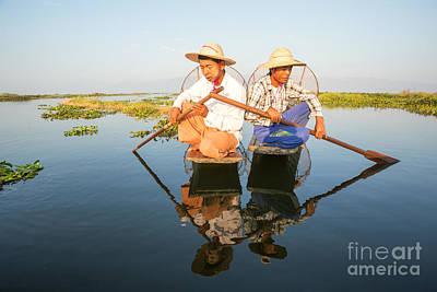 Myanmar Photograph - Fishermen - Inle Lake - Myanmar by Matteo Colombo