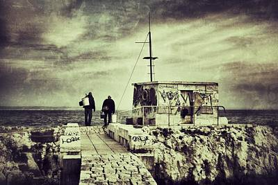 Angling Photograph - Fishermen by Marco Oliveira