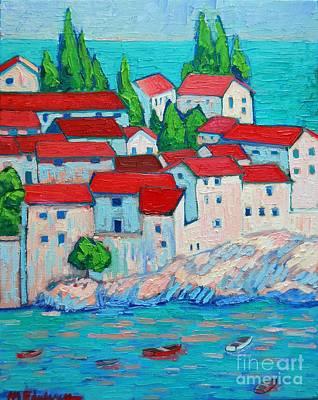 Montenegro Painting - Fishermen Old Village by Ana Maria Edulescu