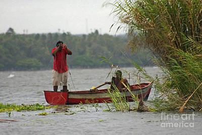 Photograph - fishermen on Lake Nicaragua by Rudi Prott