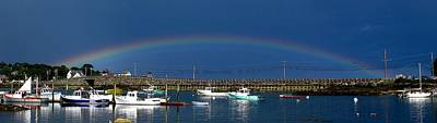 04003 Photograph - Fishermen's Rainbow by Donnie Freeman