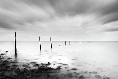 Coastal Landscape Photograph - Fishermens Sticks by Catalin Alexandru