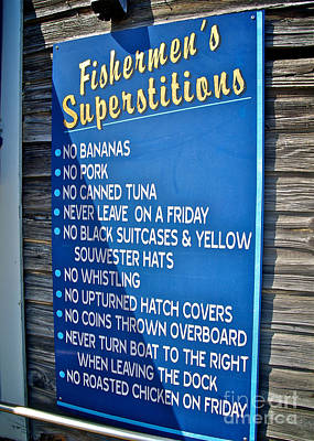 Photograph - Fishermen's Superstitions by Mark Miller