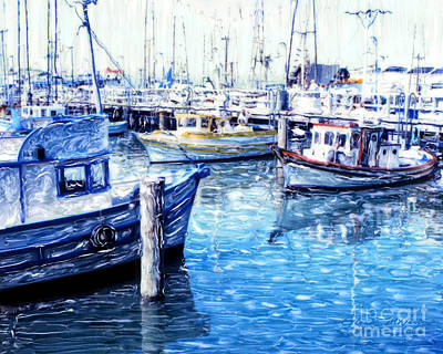 Mixed Media - Fishermen's Wharf San Francisco by Glenn McNary