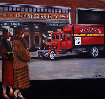 Fisher's Store Art Print by Leah Wiedemer