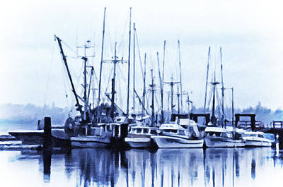 Fishers' Wharf Art Print by Richard Farrington