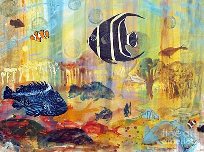 Painting - Fishes by Robin Maria Pedrero