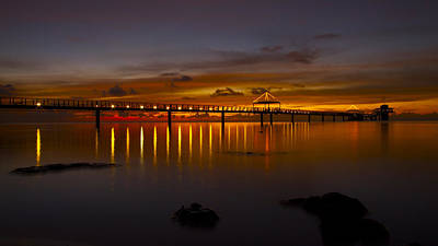 Photograph - Fisheye Pier  by Brian Governale