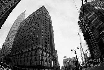 Overpowering Photograph - fisheye shot View of the empire state building and broadway new york city usa by Joe Fox