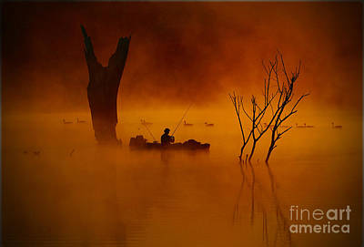 Fishing Among Nature Art Print