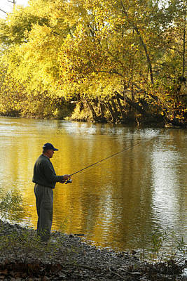 Photograph - Fishing An Ozark Stream by Garry McMichael