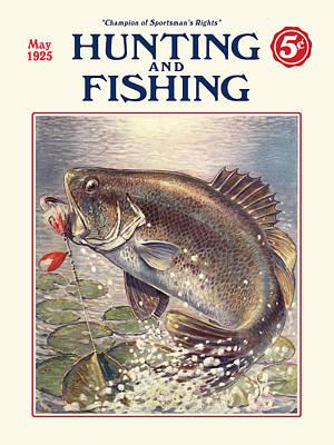 Fishing And Hunting Magazine Art Print by Gary Grayson