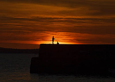 Photograph - Fishing As Sunset by Tony Reddington