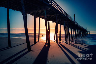 Frisco Pier Photograph - Fishing At Frisco Outer Banks by Dan Carmichael